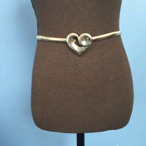 Vintage Boho Heart Metal Stretch Belt